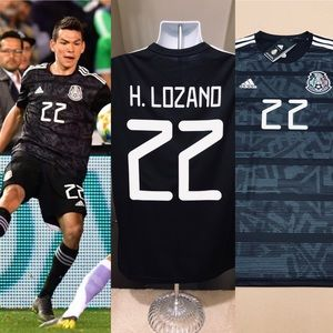 d444a009d49 adidas Shirts - Hirving Lozano  22 Mexico 2019 Home Soccer Jersey